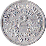 2 Francs (Vichy French State) -  reverse
