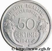 50 Centimes (heavy type) -  reverse