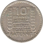 10 Francs (Large Head) -  reverse