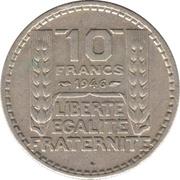 10 Francs (Large Head) -  reverse