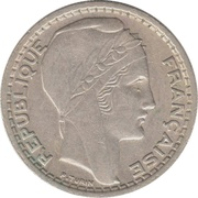 10 Francs (Large Head) -  obverse