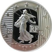 10 Euro (New Franc) -  obverse