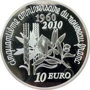 10 Euro (New Franc) -  reverse