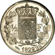 ½ Franc - Charles X -  obverse