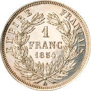 1 Franc - Napoleon III -  reverse