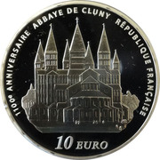 10 Euro (Cluny Abbey) -  reverse