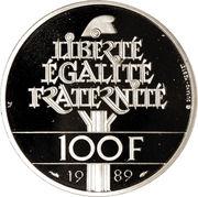 100 Francs (Human Rights) -  reverse