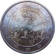 2 Euro (Music Day) -  obverse