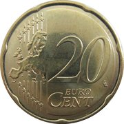 20 Euro Cent (2nd map) -  reverse