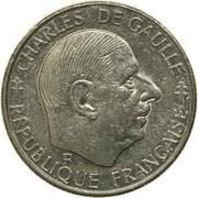 1 Franc (Charles de Gaulle) -  obverse