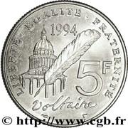 5 Francs (Voltaire) -  reverse