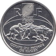 1 Franc (Rugby) – obverse