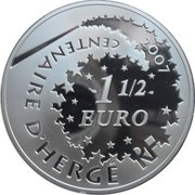 1½ Euro (Tintin and the Professor) – reverse