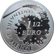 1½ Euro (Tintin and Chang) – reverse