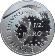1½ Euro (Tintin and Captain Haddock) – reverse