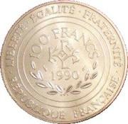 100 Francs (Charlemagne) -  reverse
