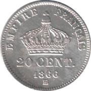 20 Centimes - Napoleon III -  reverse