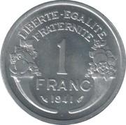 1 Franc (aluminium, heavy) -  reverse