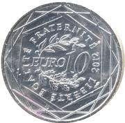 10 Euro (Haute-Normandie) -  reverse