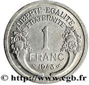 1 Franc - Graziani - Zinc -  reverse