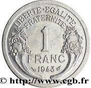1 Franc - Graziani - Aluminium -  reverse