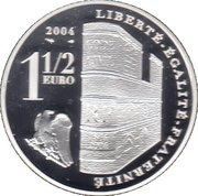 1½ Euro (Napoleon) – reverse