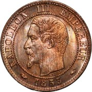 1 Centime (Napoleon III, nude head) -  obverse