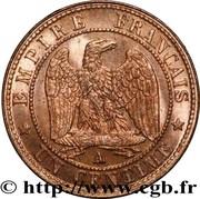 1 Centime (Napoleon III, nude head) -  reverse
