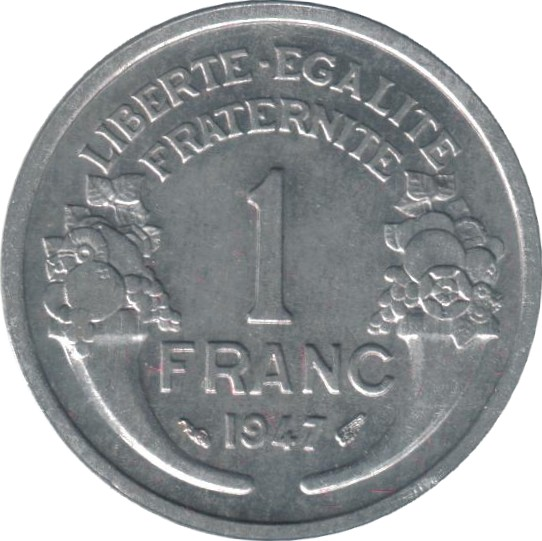 1 Franc Light Type