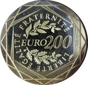 200 Euro French Regions (2nd type) -  reverse