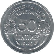 50 Centimes (light type) -  reverse