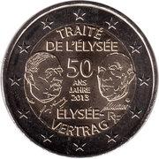 2 Euro (Élysée Treaty) -  obverse
