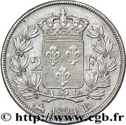2 Francs - Louis XVIII – reverse