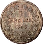 5 Francs - Louis-Philippe I -  reverse