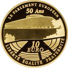 10 Euro (European Parliament) – reverse