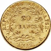 20 Francs - Napoleon I -  reverse