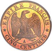 5 Centimes - Napoleon III -  reverse