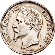 2 Francs - Napoleon III – obverse