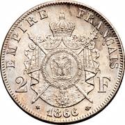 2 Francs - Napoleon III – reverse