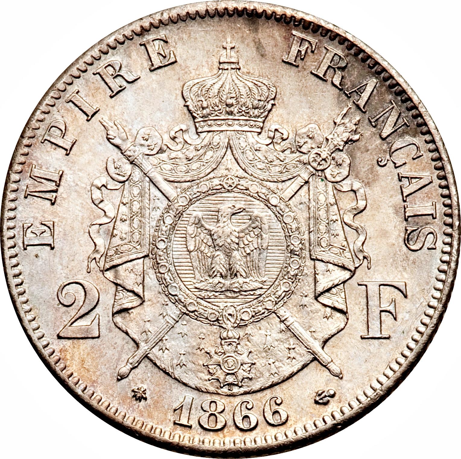 2 francs napoleon iii france numista for France francs
