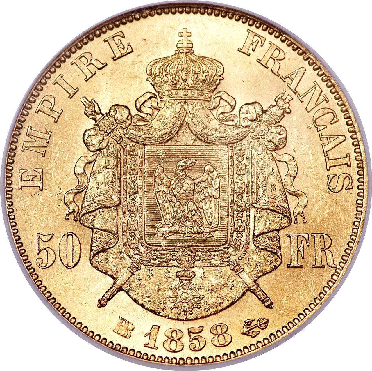 50 Francs Napoleon Iii France Numista