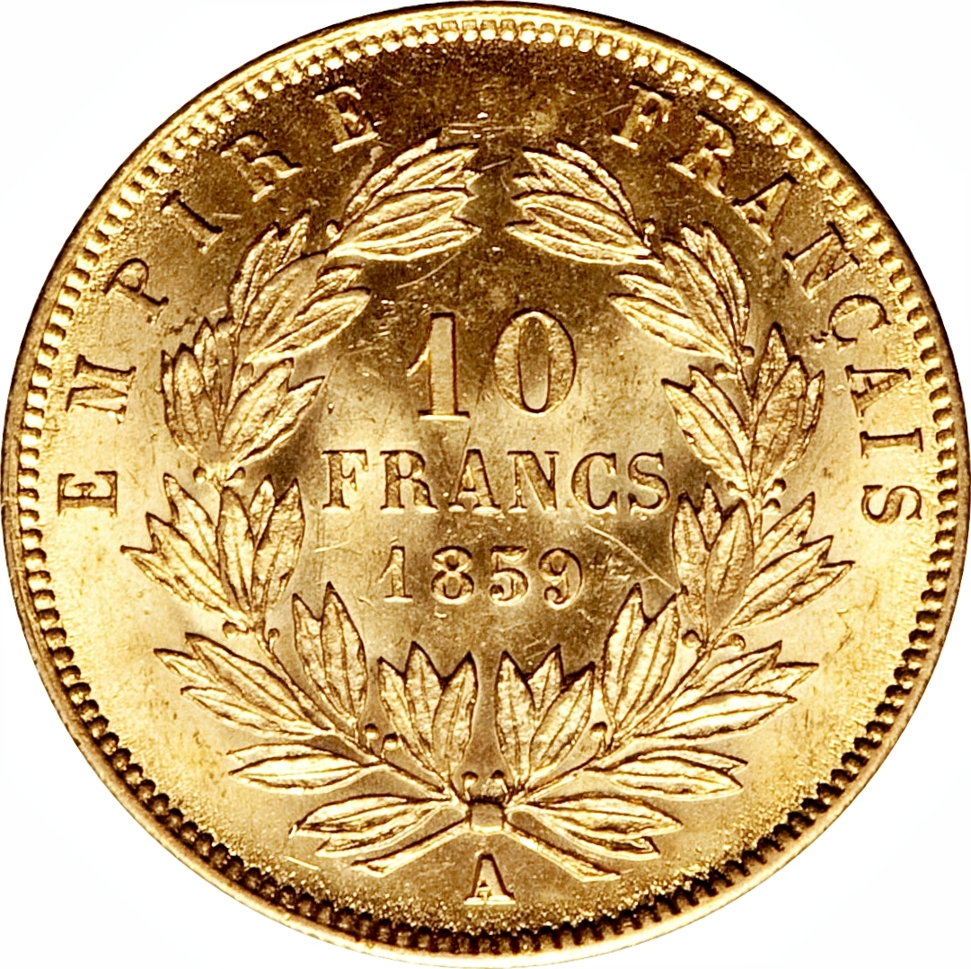 10 francs napoleon iii france numista for France francs