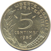 5 Centimes -  reverse