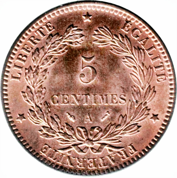 5 Centimes France Numista
