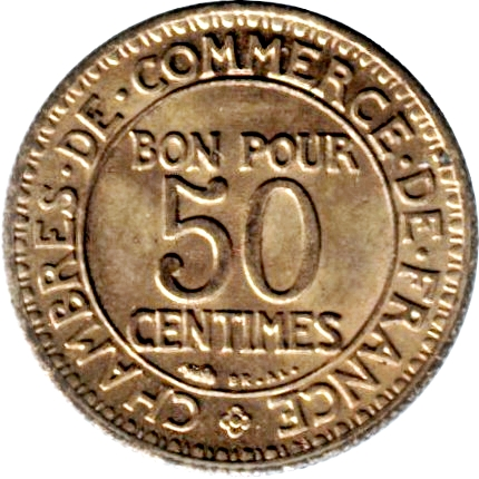 50 centimes chambers of commerce france numista