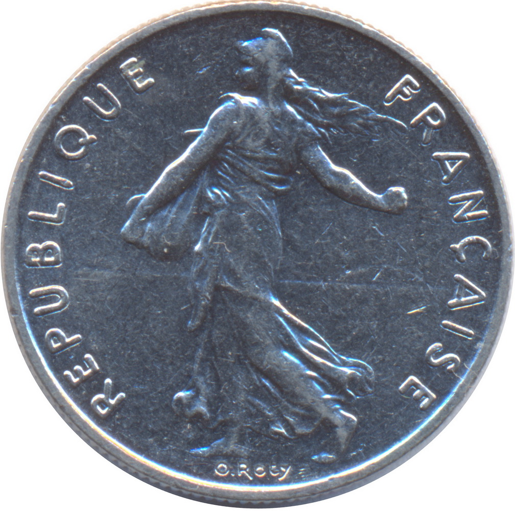 """Roty/"""" Signature /""""O The Sower 1970 France 5 Francs"""