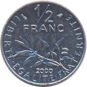 "½ Franc (signature ""O. Roty"") -  reverse"