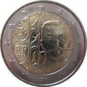 2 Euro (Pierre de Coubertin) -  obverse