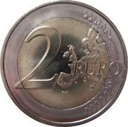 2 Euro (Pierre de Coubertin) -  reverse