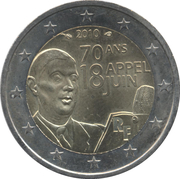 2 Euro (Speech of June 18th 1940) -  obverse